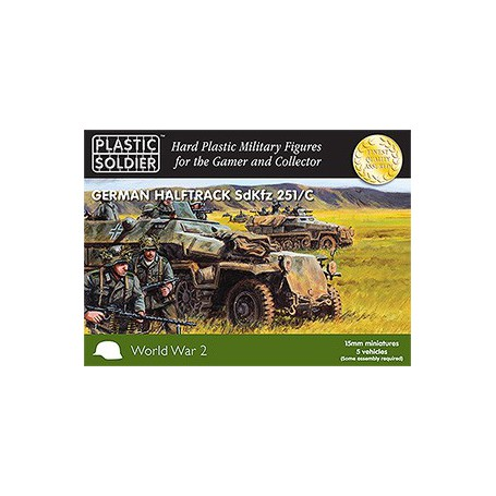 15Mm Ww2 German Sdkfz 251 Ausf C Halftrack, Plastic Soldier