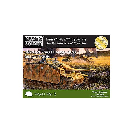 15Mm Ww2 German Stug Iii Ausf F8/G Assault Gun, Plastic Soldier