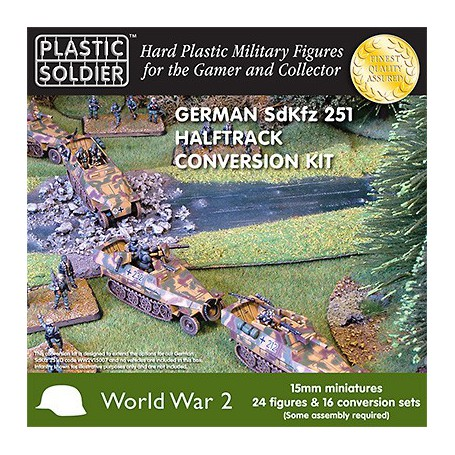 15Mm Ww2 German Sdkfz 251/D Halftrack Conversion Kit, Plastic Soldier