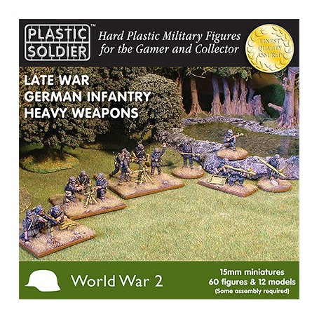 15Mm Late War German Heavy Weapons, Plastic Soldier