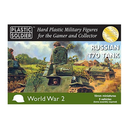 15Mm Russian T70 Tank, Plastic Soldier