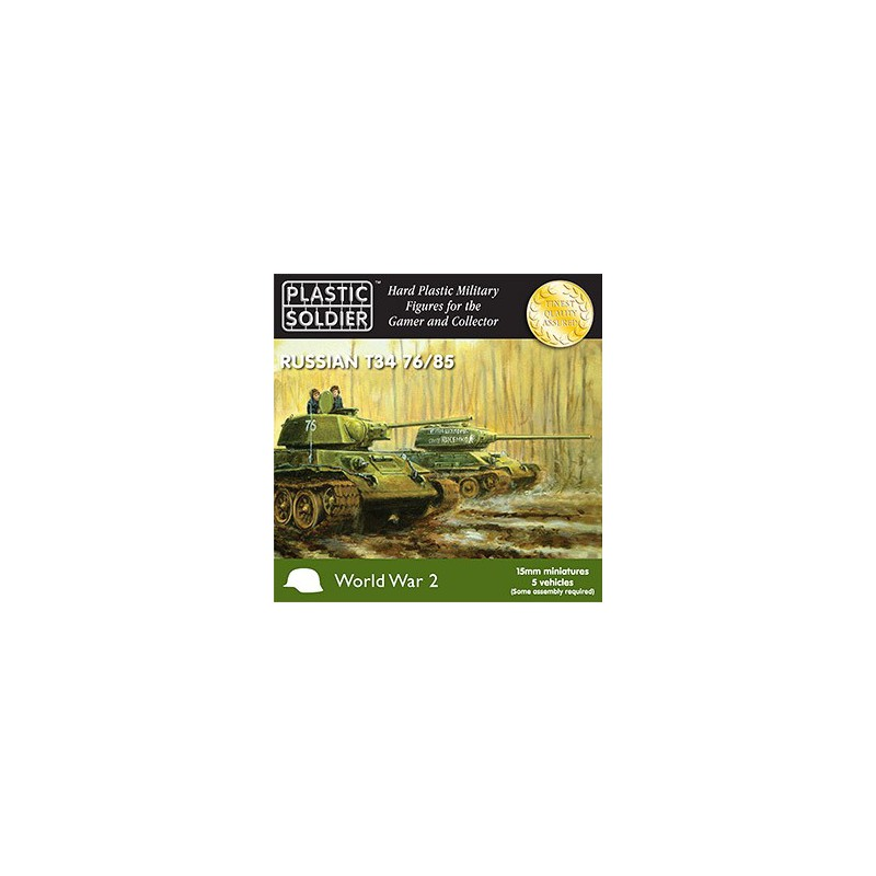 15mm WW2 Russian T34 Tank, Plastic Soldier