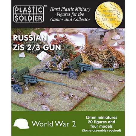 15Mm Russian Zis2/3 Anti Tank And Field Gun, Plastic Soldier