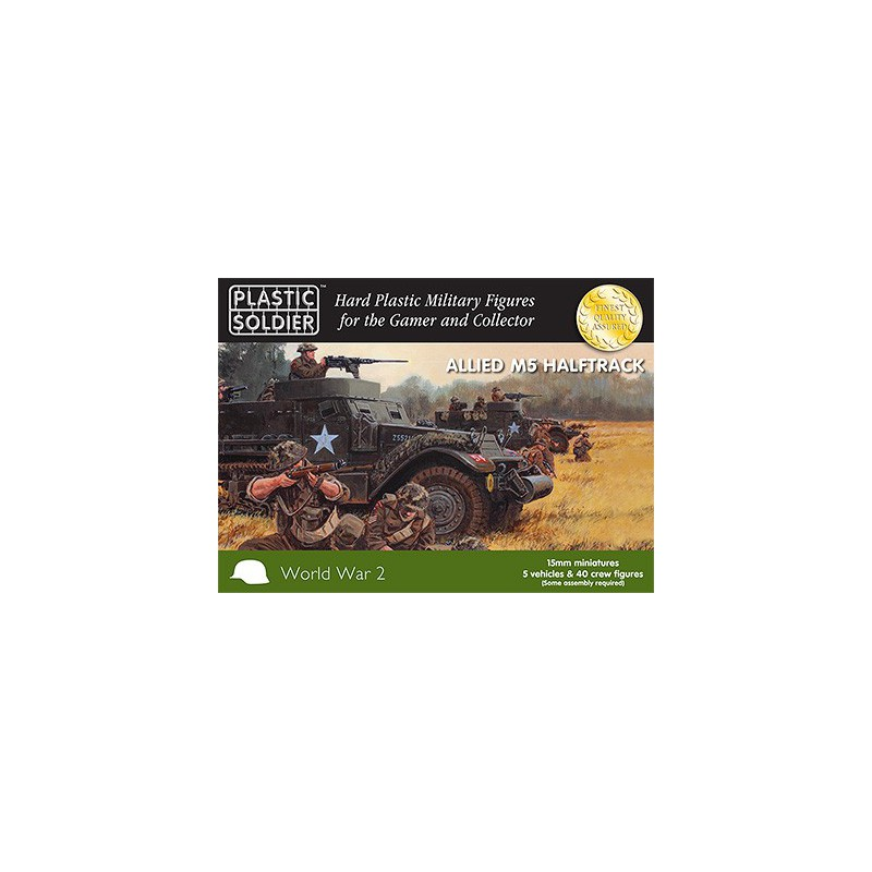 15mm WW2 Allied M5 Halftrack, Plastic Soldier