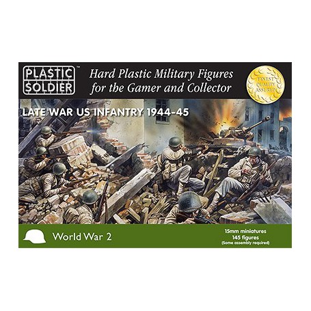 15Mm Ww2 Late War Us Infantry 1944-45, Plastic Soldier