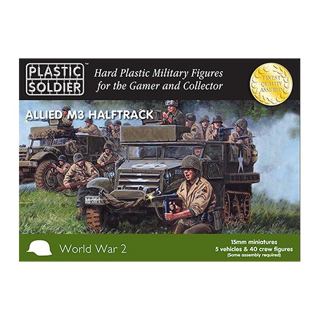 15Mm Ww2 Allied M3 Halftrack, Plastic Soldier