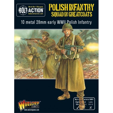 Bolt Action - Polish Infantry Squad in greatcoats