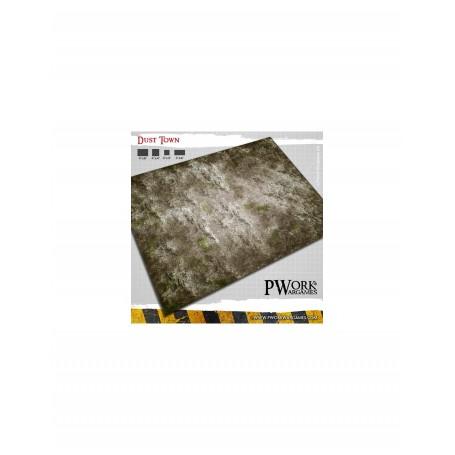 PWork Wargames - Tapis de jeu néoprène Dust Town 120x120cm