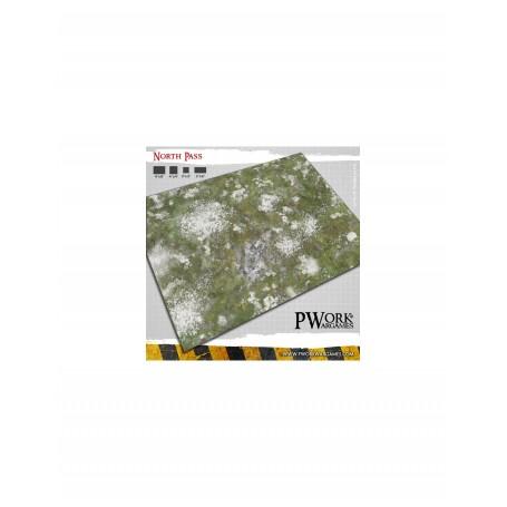PWork Wargames - Tapis de jeu néoprène North Pass 120x120cm