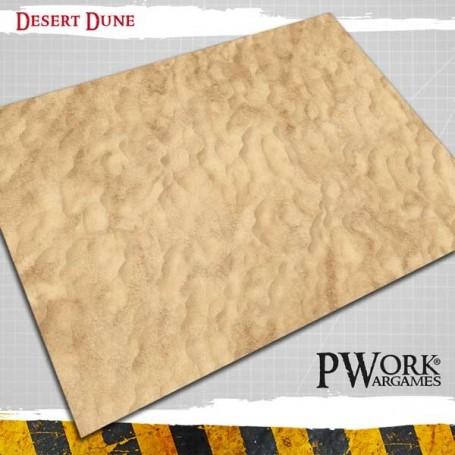 PWork Wargames - Tapis de jeu Néoprène Desert Dunes 90x120cm