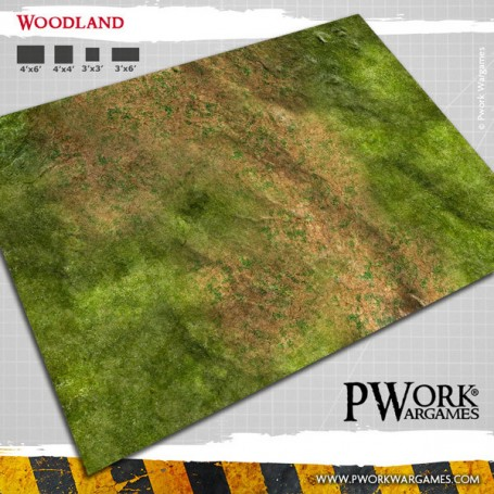 PWork Wargames - Tapis de jeu Néoprène Woodland 90x120cm