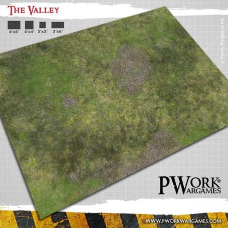 PWork Wargames - Tapis de jeu Néoprène The Valley 90x120cm