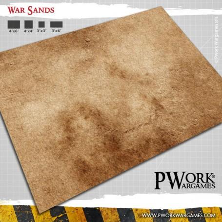PWork Wargames - Tapis de jeu Néoprène War Sands 90x120cm