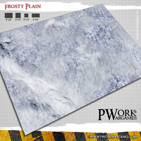 PWork Wargames - Tapis de jeu Néoprène Frosty Plain 90x120cm