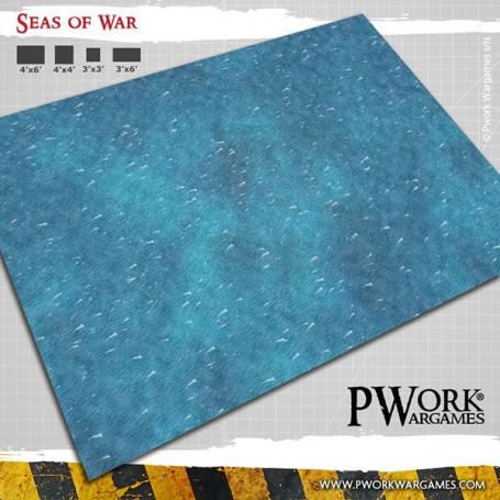 PWork Wargames - Tapis de jeu néoprène Seas of War 90x90cm