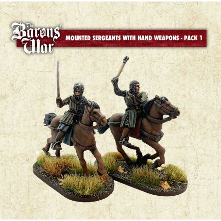 The Baron's War - Mounted Sergeants with Hand Weapons 1