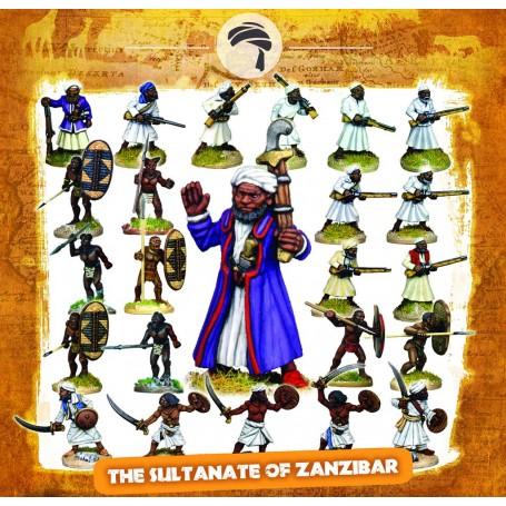 Colonne du Sultanat de Zanzibar (25 figs, socles inclus)