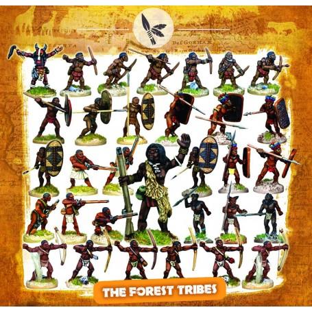 Colonne des Tribus des Forêts (32 figs, socles inclus)
