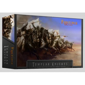 Templar Knights Cavalry (12 Mounted Figurines Plastiques)