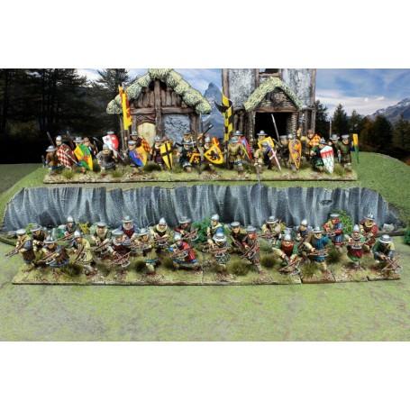Foot Sergeants (48 Infantry Figurines Plastiques)