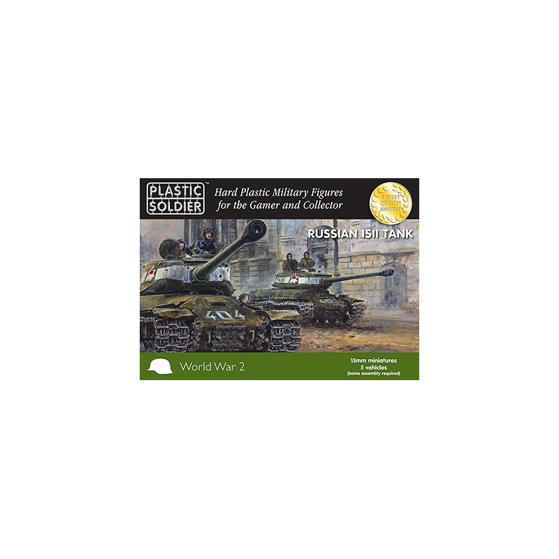 15mm WW2 Russian IS2Tank, Plastic Soldier