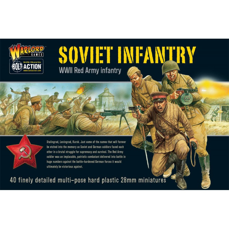 Soviet Infantry (40), Bolt Action