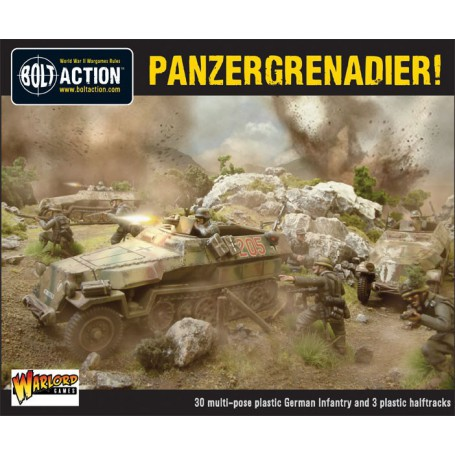 Panzergrenadier Platoon (3X Halfracks & 30 Infantry), Bolt Action