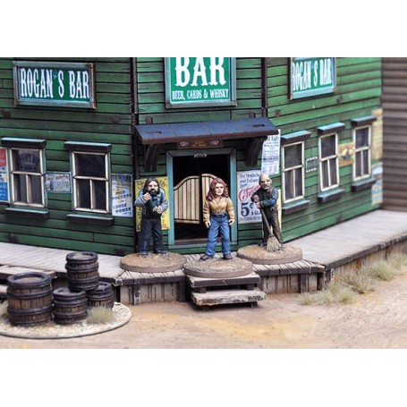 Dead Man's Hand Civilian Rogan's Bar Figure set, par Great Escape Games