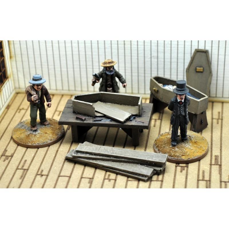 Dead Man's Hand Civilian Undertaker's Figure Set, par Great Escape Games