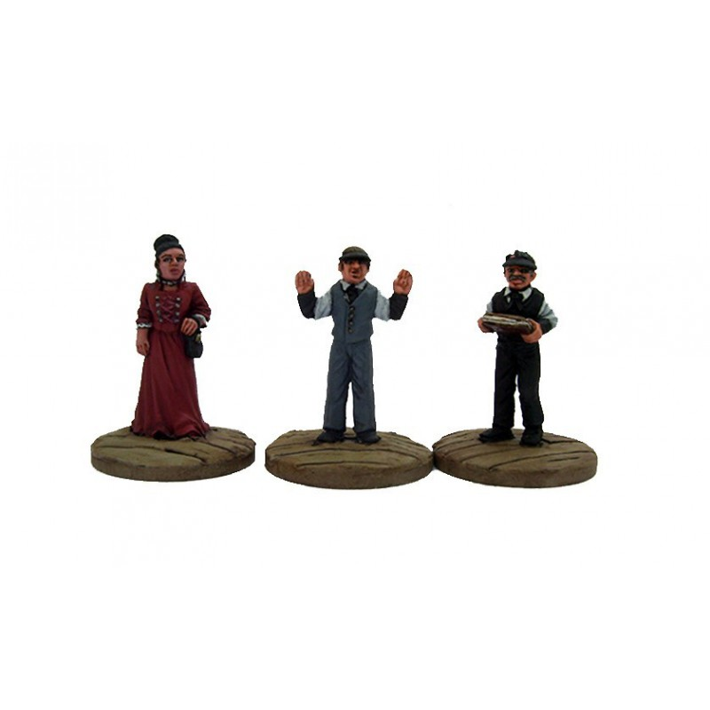 Dead Man's Hand Civilian Bank Figure Set, par Great Escape Games